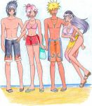 At the beach by PicturePixie