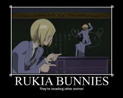 Rukia Bunnies by PhantomEnvy