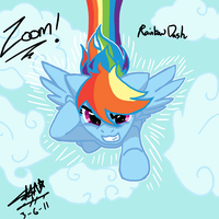 Zoom Zoom Rainbow Dash by NeonNoble