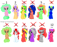 Mlp Pony adopts 5-8 pts / CLOSED by EwyAdopts