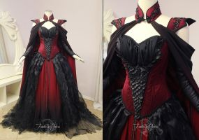 Crimson Moon Dragon Gown by Lillyxandra
