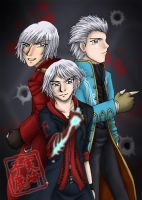 Commission: Devil May Cry Boys by kojika