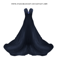 Dark Blue Dress By Starscoldnight by StarsColdNight