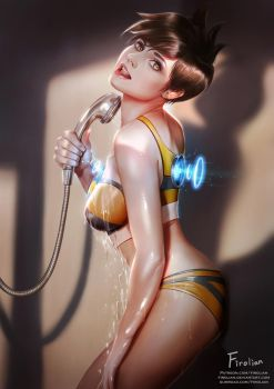 Tracer in Shower booth by Firolian