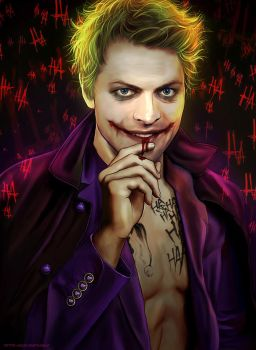 Spn x DC Comics - Misha as The Joker by Petite-Madame