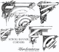 Scroll Banner Corners by Lileya