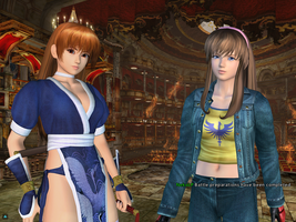 Dead or Alive Online : Kasumi vs Hitomi by Perfectdranzer