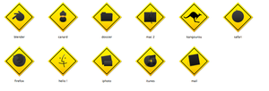 11 Yellow Icons by PouickyTheDuck