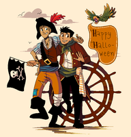 WIld Kratts Halloween by student-yuuto