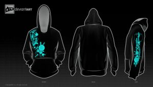Abstract Hoodie Black Eddition by Novakim