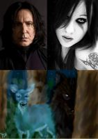 Snape and vio by littlewolfmoccasin