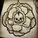 skull and marigold by KennethBotsfordJr