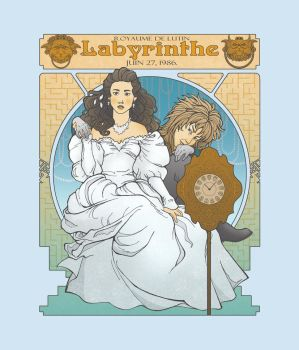 Labyrinth Nouveau Illustration by christadaelia