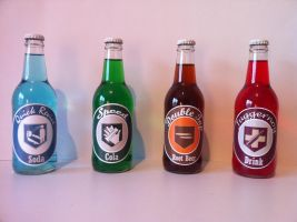 Perk-A-Cola Bottles by TBoneCaputo