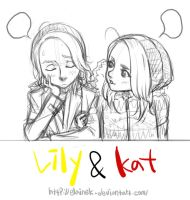 lily and kat by elaineK