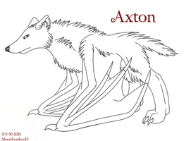 Axton Lineart by paradox--division