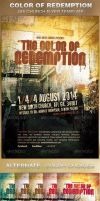 The Color of Redemption Church Flyer Template by loswl