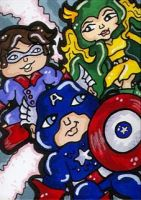 Captain America and Friends by CassieJ787