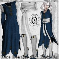 Blue Leather for Lirio V4 by Childe-Of-Fyre