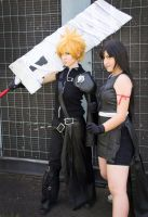Cloud and Tifa - Final Fantasy VII by Opposites