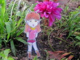 Butterfly in the garden by kitkatnis