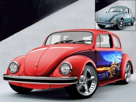 Roof chopped VW Bug by Stubby-