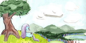 Watercolored Wheaties on a Hill by Username-KH