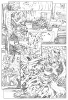 The Demon pg 2 pencils by deankotz