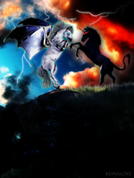 Clash of the Titans by Reyna-Love