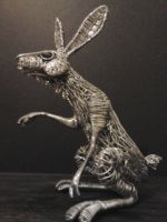 New Hare sculpture2 by braindeadmystuff