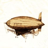 Airship by mahogany-poulaine
