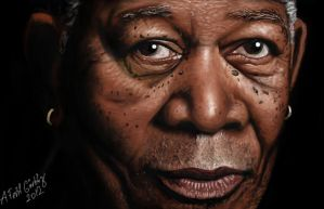 Morgan Freeman by eryxfrt