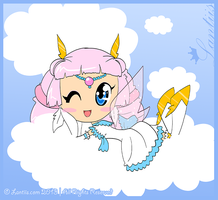 Israfel in the Clouds by iLantiis