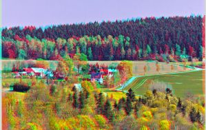 Mock-up world : HDR Anaglyph : by zour