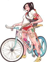 fixie girl by lazeedog