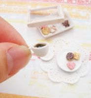 12th scale cookie+coffee set1 by PetiteCreation
