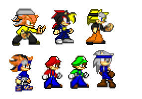 Some sprite projects by Spaniothehedgehog