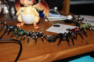 Spider Necklace by Qrinta