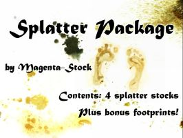 Splatter Package by magenta-stock