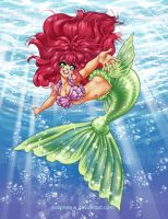 Anime Little Mermaid by solipherus