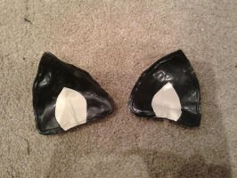 Latex kitty ears by SarahInTortureland