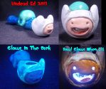 Finn Adventure Time Converted Glass Pipe by Undead-Art