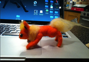 NeedleFelted Flareon by Self-Eff4cing
