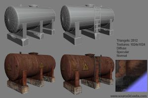 Oil tank by S-ource