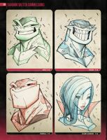 Random Sketchies 113-116 by RobDuenas