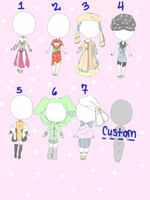 Outfit Adopts Open  1 left 25pts by Teafairyadopts