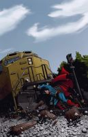 Superman: More Powerful than a Locomotive by AurynPub