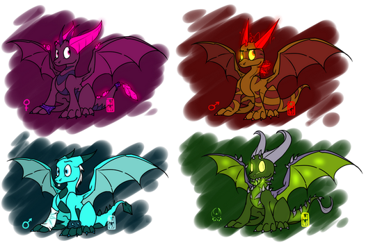 Cute Adoptables Bunch1 by WingedWilly