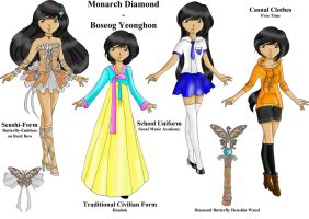 Monarch Diamond Reference Sheet WIP by TenshiNeera