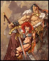 Sonja and Conan colors by nfteixeira